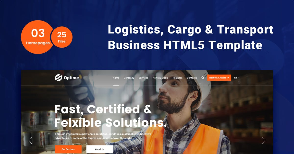 Download Optime - Logistics & Transportation HTML5 Template by 7oroof