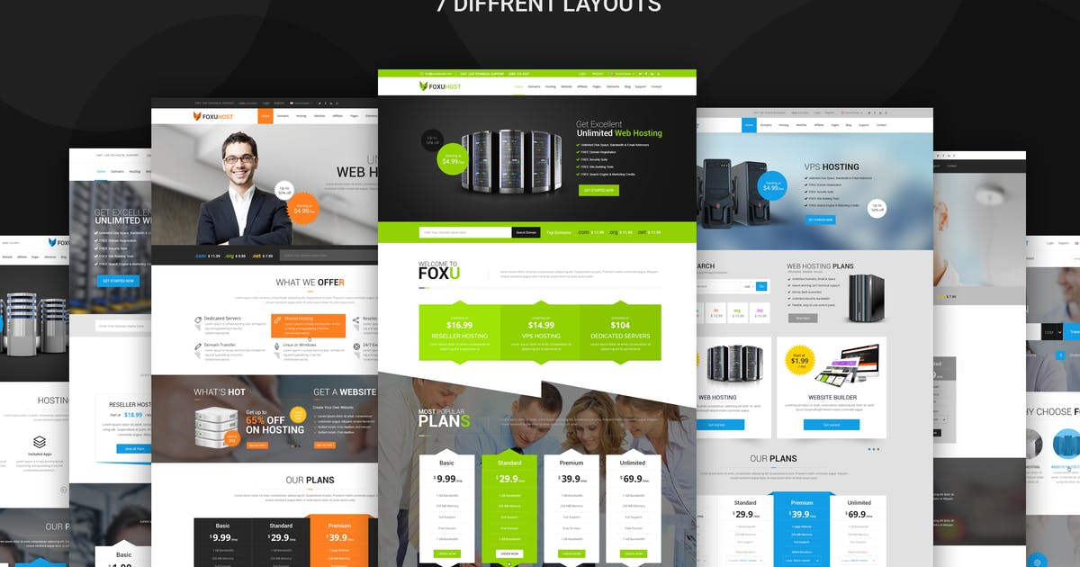 Download Foxuhost - Web Hosting, Responsive HTML5 Template by codelayers