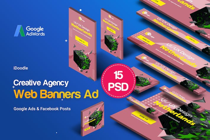 Thumbnail for Creative Agency, Business Banners Ad