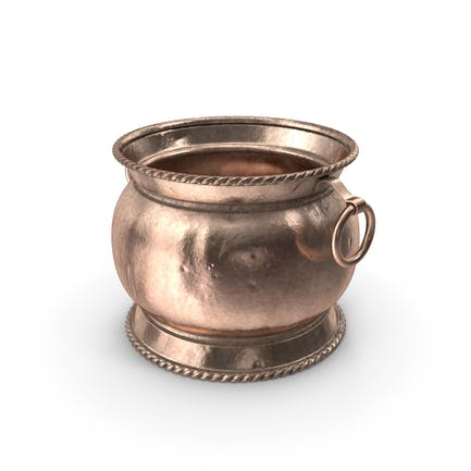 Antique Copper and Brass Jardiniere 19th Century