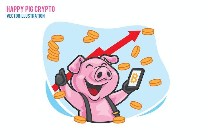 Happy Pig Вектор криптовалюты