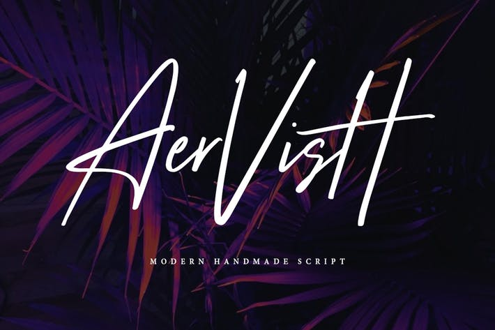 Thumbnail for Aervish Typeface