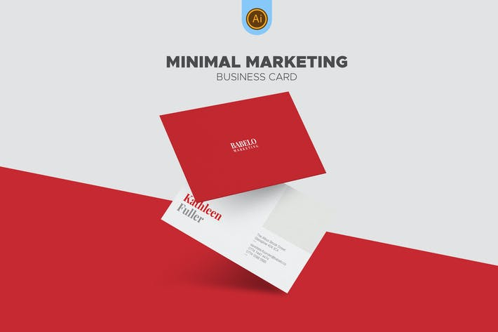 Thumbnail for Clean Minimal Marketing Business Card
