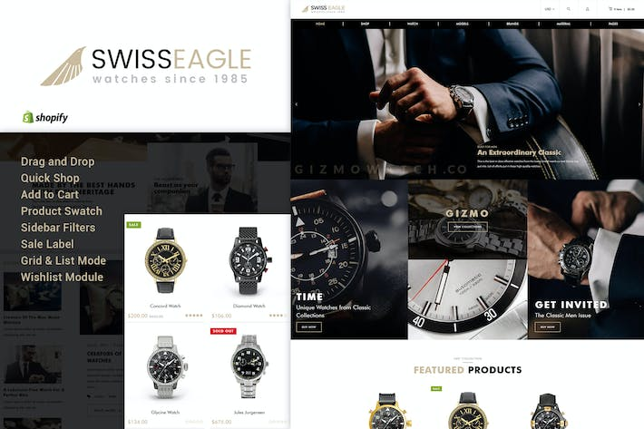 Thumbnail for Swiss Eagle | Montre Shopify Thème