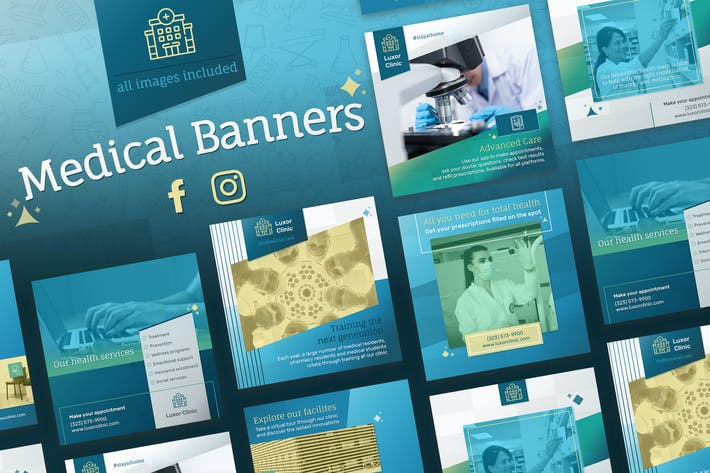 Thumbnail for Medical Banners for Facebook and Instagram