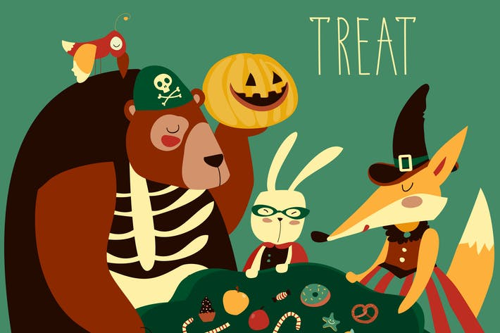 Thumbnail for Animals in Halloween costume