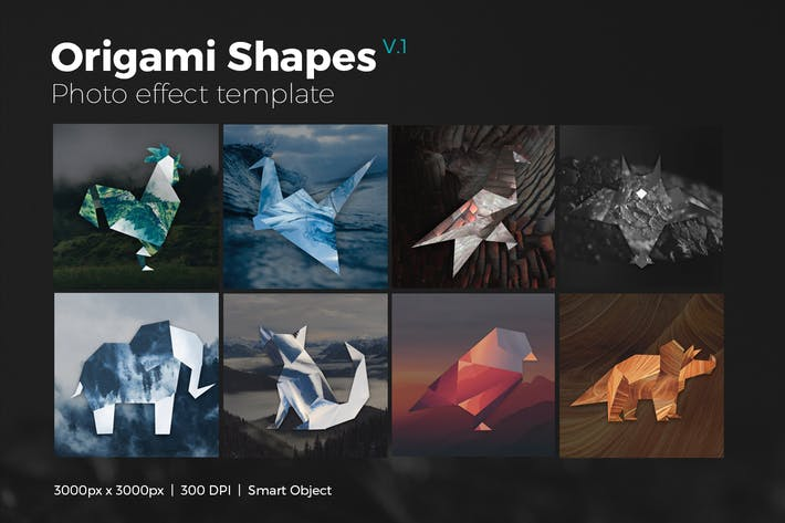 Thumbnail for Origami Shapes Photo Templates V1