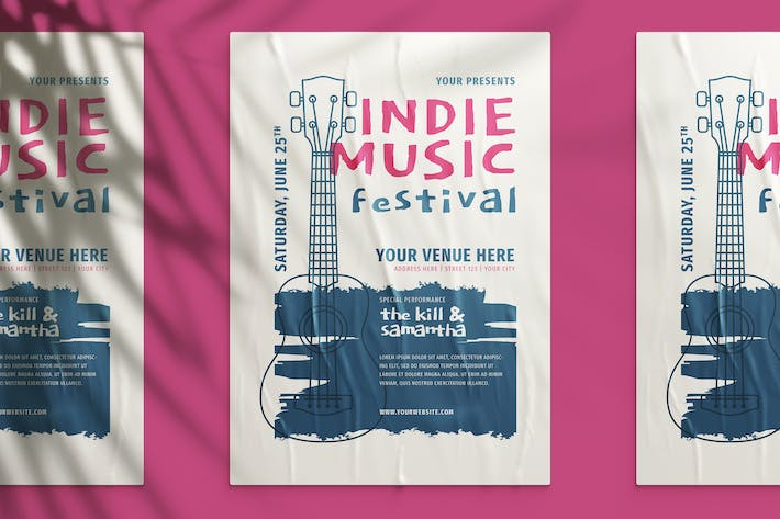 Thumbnail for Indie Music Festival Flyer