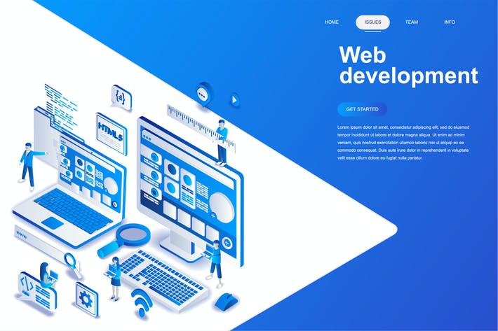 Thumbnail for Web Development Isometric Concept