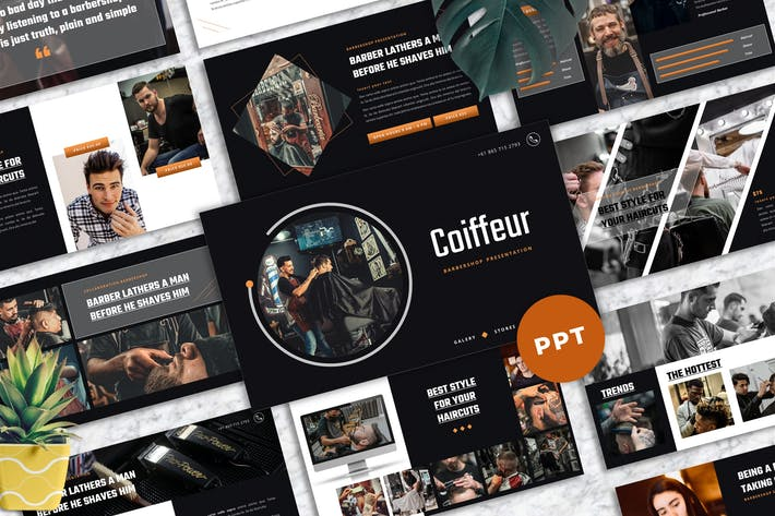 Coiffeur - Barbershop Powerpoint Templates