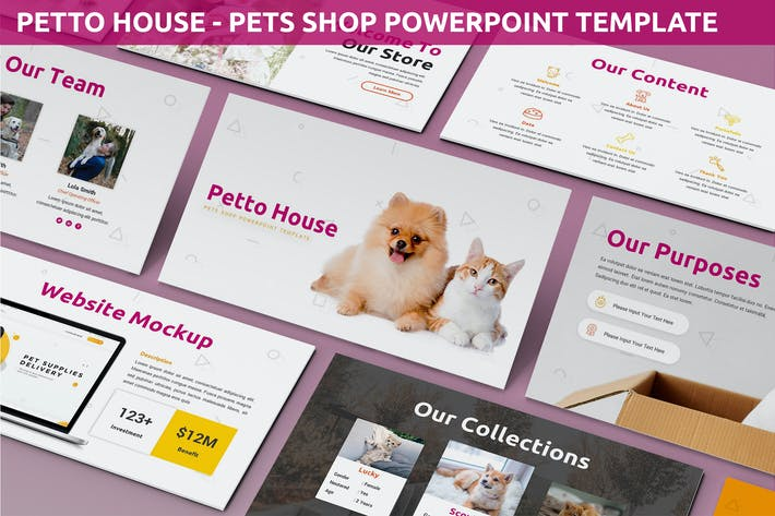 Thumbnail for Petto House - Pet Shop Powerpoint Template