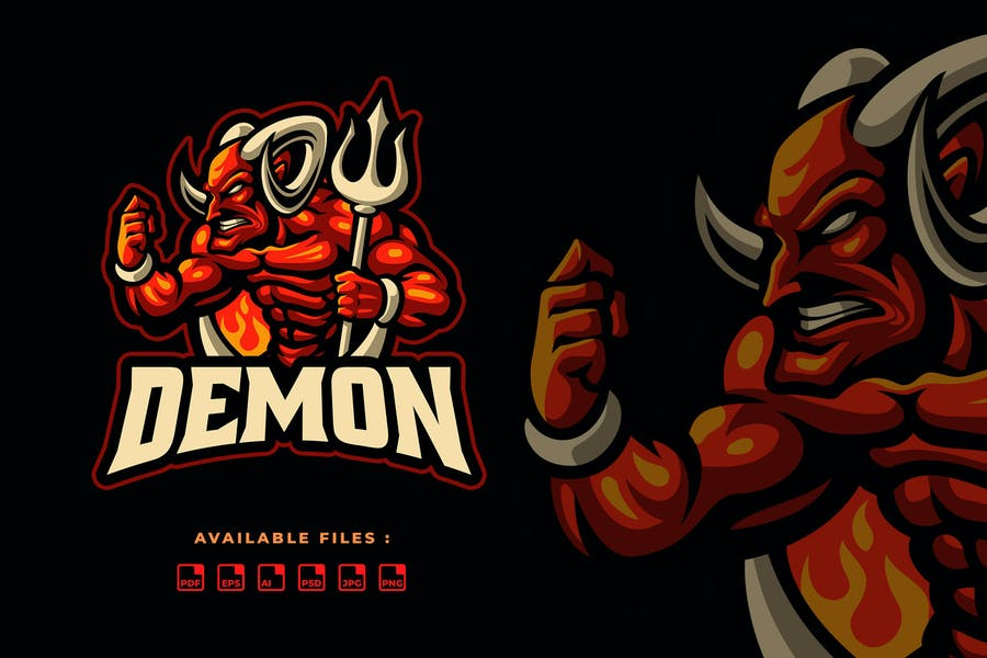 Demon Sport and Esport Logo