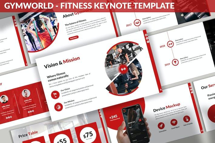 Thumbnail for Gymworld - Fitness Keynote Template