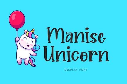 Manise Unicorn Display Font