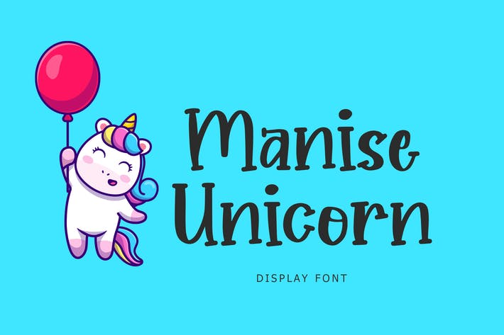 Manise Unicorn Display Font