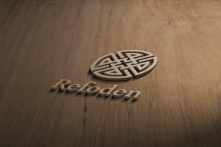 Thumbnail for 3D Wooden Logo Mockup