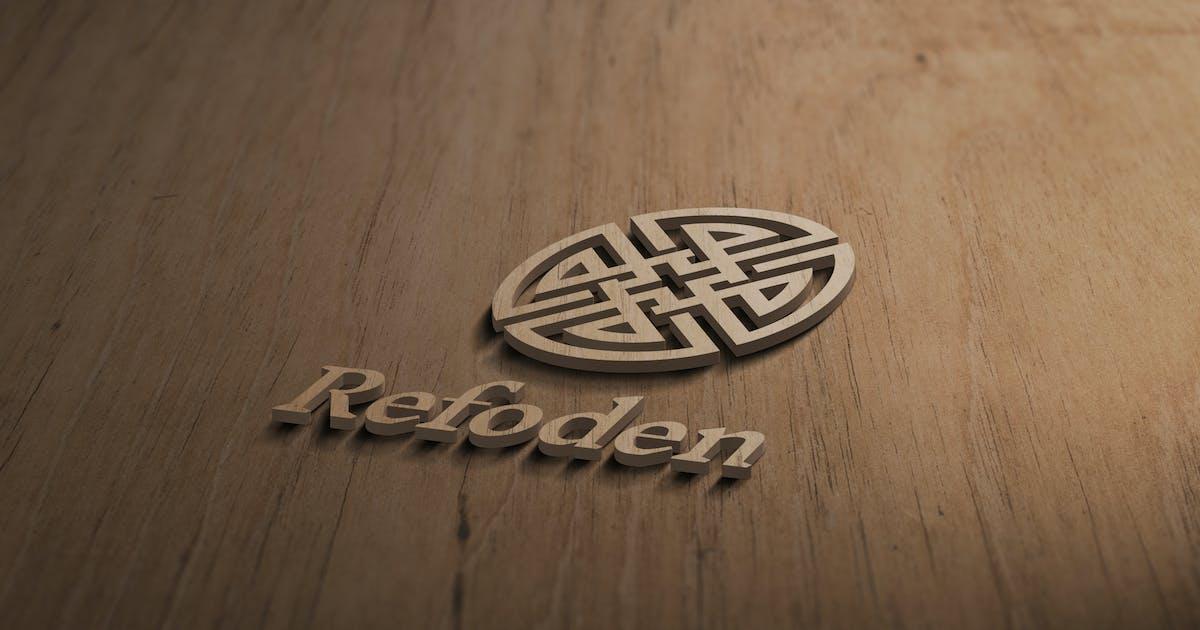 Download 3D Wooden Logo Mockup by artimasa_studio