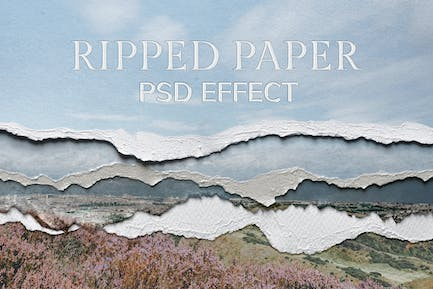 Ripped Paper PSD Texture Effect