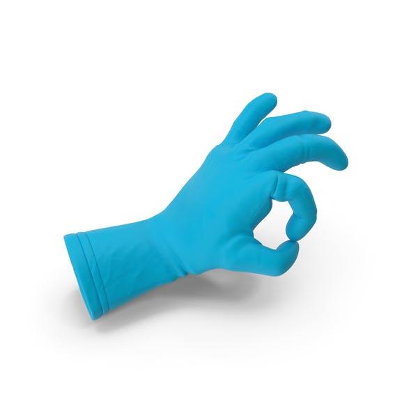 Rubber Glove Ok Gesture