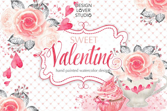 Thumbnail for Watercolor Sweet Valentine design