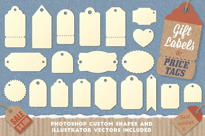 Thumbnail for Gift Tag and Price Label Shapes