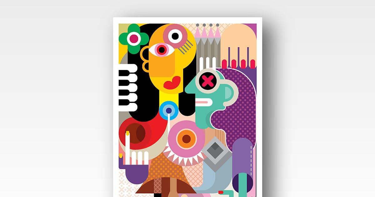 Download Two Women abstract fine art portrait by danjazzia