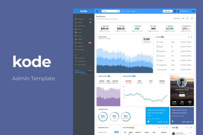 Thumbnail for Kode - Responsive Admin Dashboard Template
