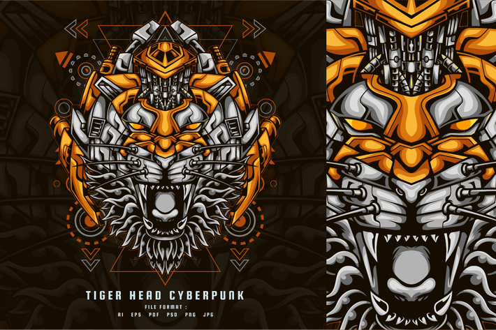 Tiger Head Cyberpunk