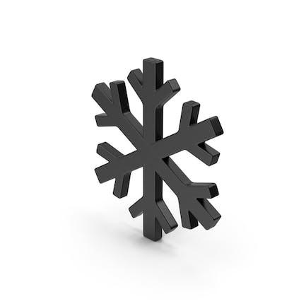 Черный символ Снежинка