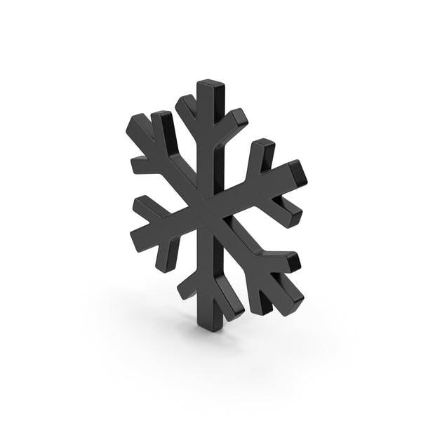 Black Symbol Snowflake