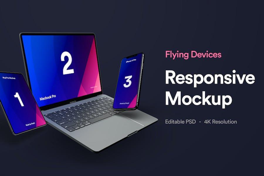 Responsive Device Mockup - Vol 04