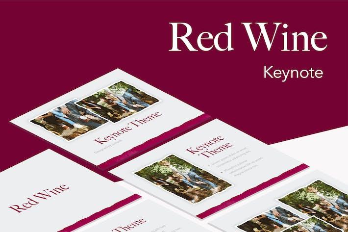 Шаблон Keynote красного вина
