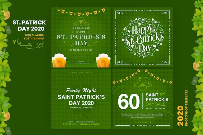 Thumbnail for ST. Patrick's Day Social Media Post Vorlage