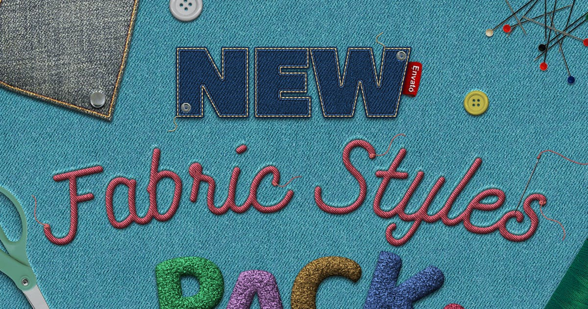 Download Fabric Text Effects by designercow