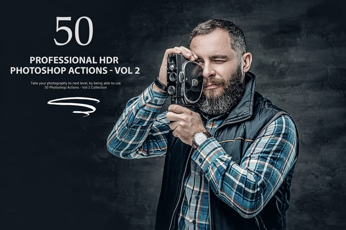 Thumbnail for 50 HDR Photoshop Actions - Vol 2