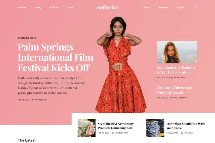 Thumbnail for Senorita - Magazine and Blog HTML5 Responsive Temp