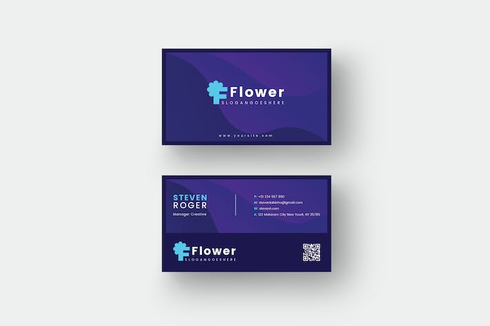 Thumbnail for Flower Card Template