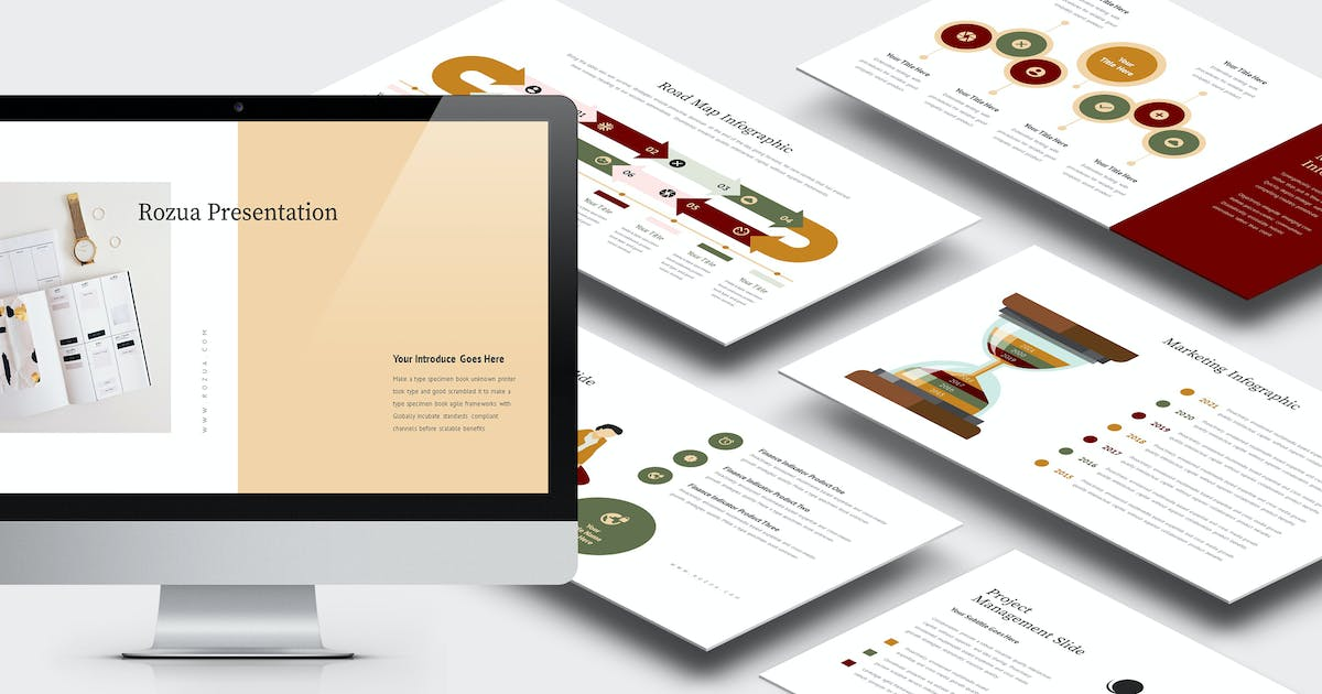 Download Rozua : Vector Infographic Business Powerpoint by punkl