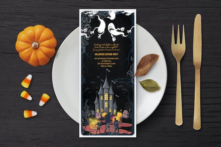 Thumbnail for Halloween Ticket Invitation Card