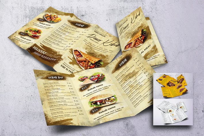 Thumbnail for Different Countries Trifold Food Menu Bundle