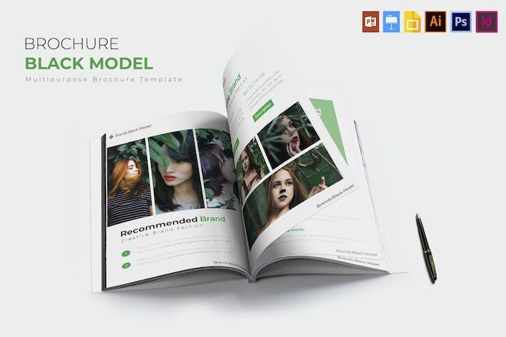 Thumbnail for Schwarzes Modell | BroschürenVorlage