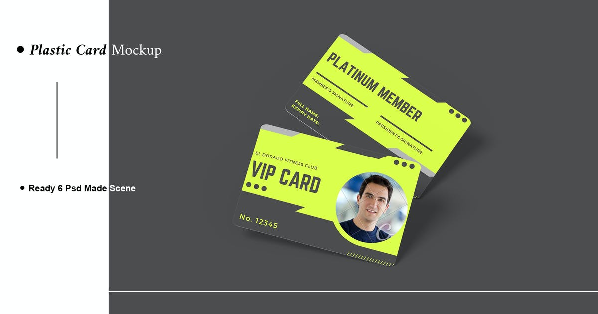 Download Plastic Card Mockup by AuthenticMockup