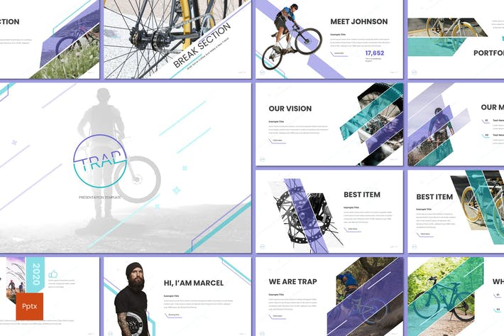 Trap Cycling Powerpoint Template by inspirasign on