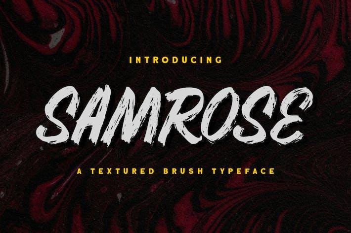 Samrose - Polices de caractères de pinceau texturé