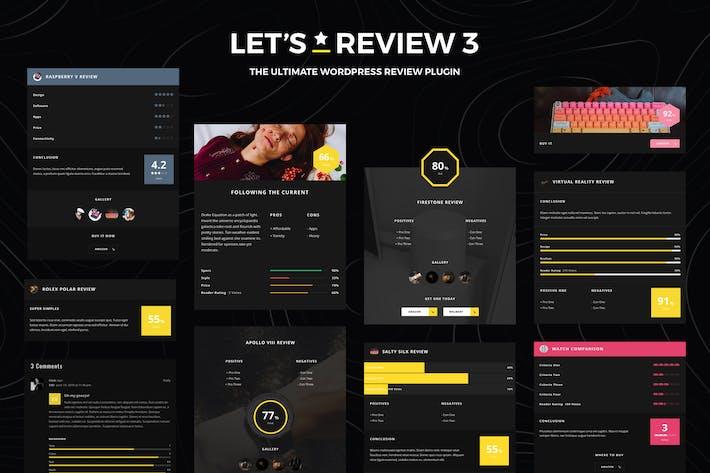 Review WordPress Plugin Let's Review