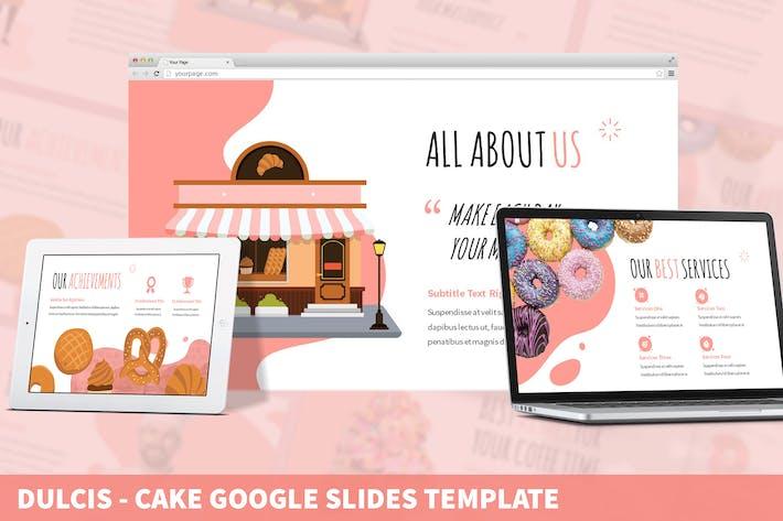 Thumbnail for Dulcis - торт Google слайды Шаблон
