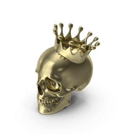 Gold Skull With Crown