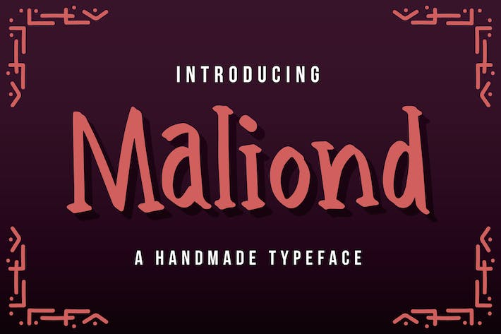 Thumbnail for Maliond - A Handmade Typeface