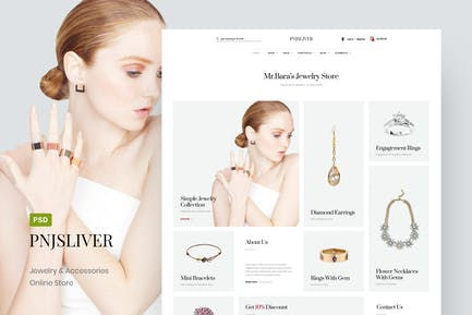 PNJ Sliver - Jewelry Store Online PSD Template