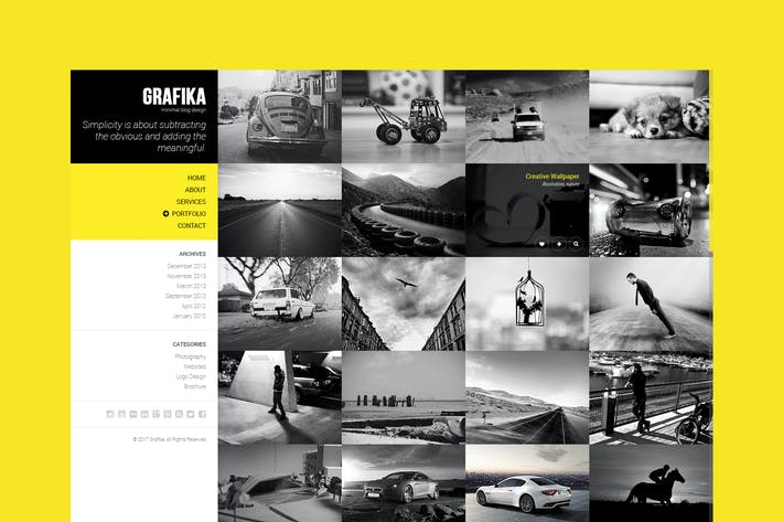 Thumbnail for Grafika - Photographie & Blog Modèle HTML